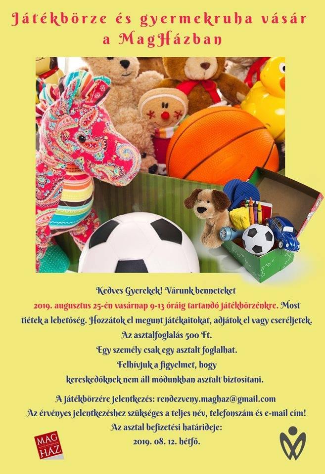 2019.08.25. Játékbörze és gyermekruha vásár