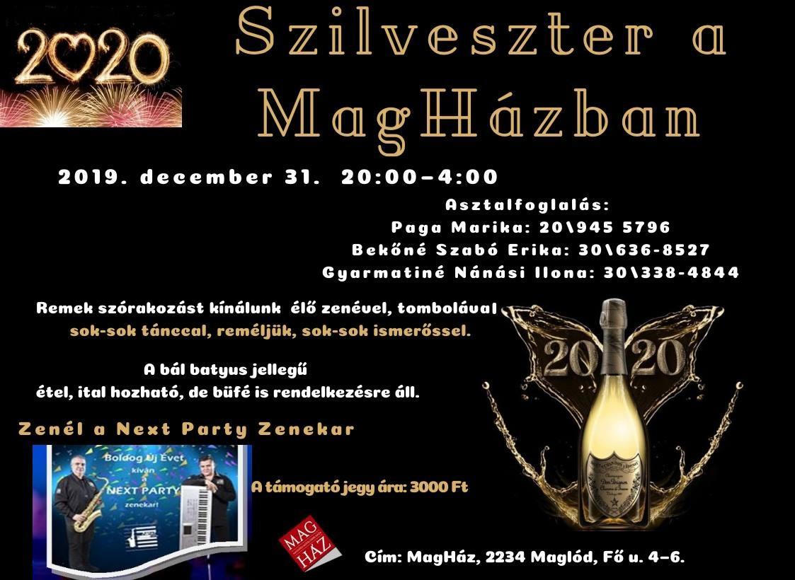 2019.12.31. Szilveszter a MagHázban