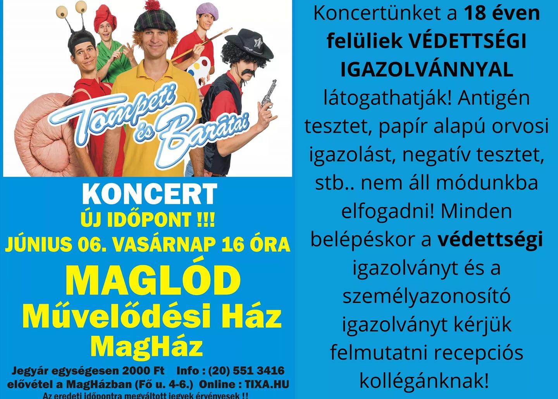 2020.06.07. Tompeti és barátai koncert - ÚJ IDŐPONT!