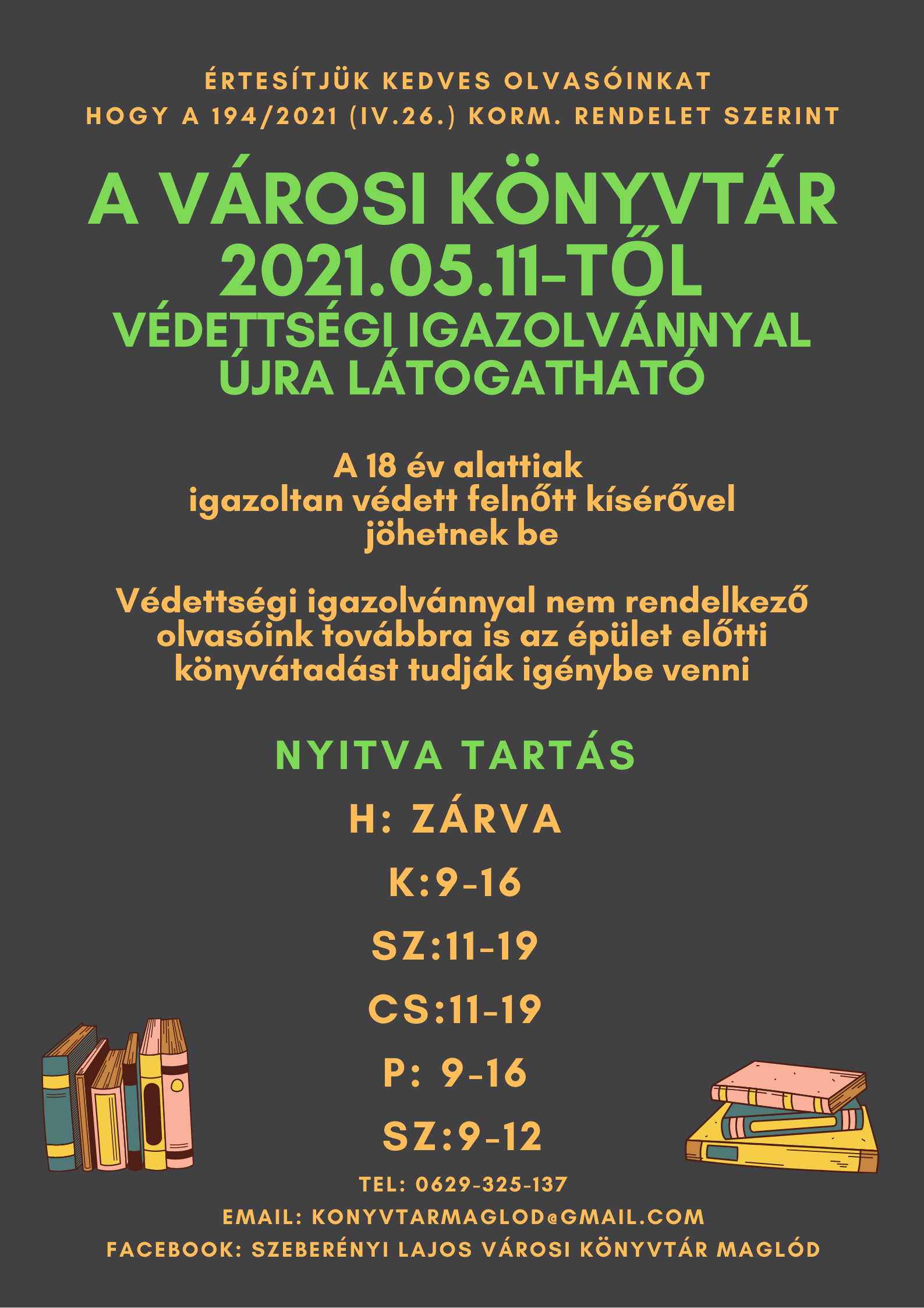 2021.05.11. Nyit a könyvtár