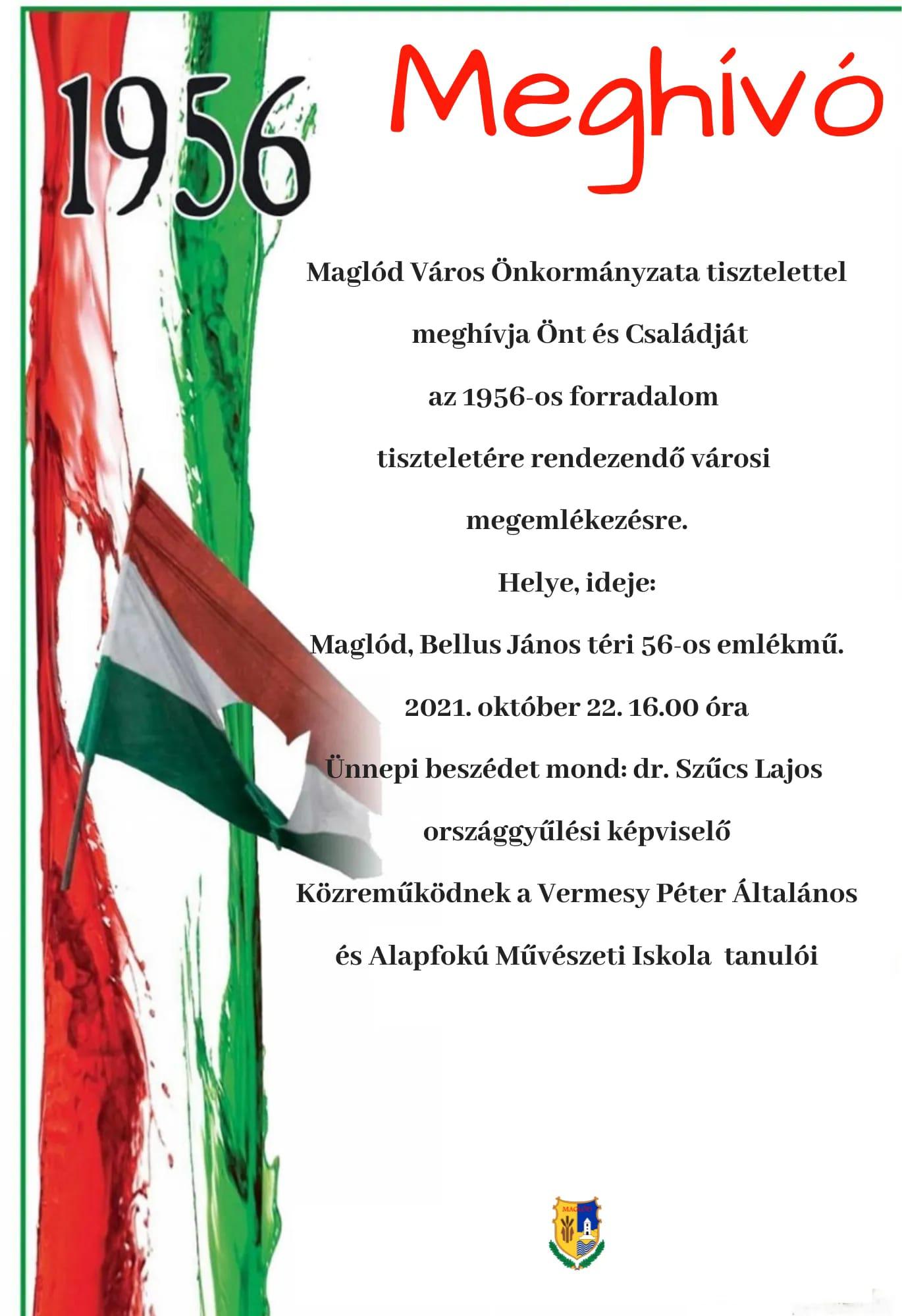 2021.10.22. 1956-os forradalom - városi megemlékezés